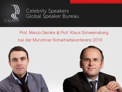 Prof. Klaus Schweinsberg und Prof. Marco Gercke